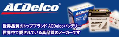 ACデルコバイクバッテリー